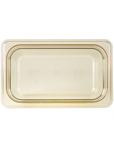 """Cambro 46HP150 H-Pan 1/4 Size Amber High Heat Food Pan - 6"""" Deep"""