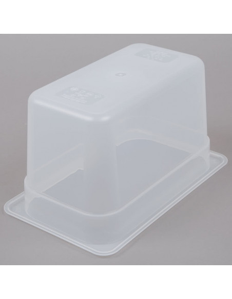 "Cambro 46PP190 1/4 Size Translucent Food Pan - 6"" Deep"
