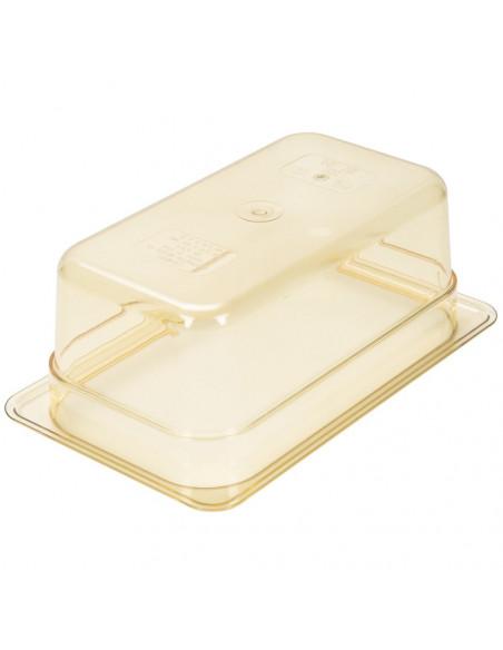 """وعاء بمقاس 1\4 وارتفاع 4"""" للأطعمة لدرجات الحرارة العالية باللون الكهرماني من كامبرو"""