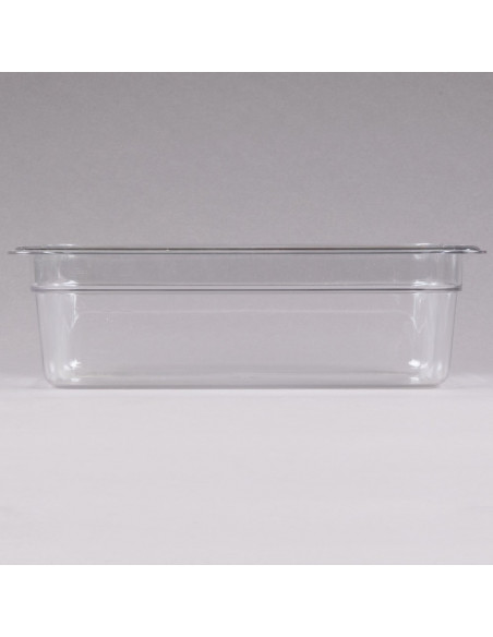 "Cambro 34CW135 Camwear 1/3 Size Clear Food Pan - 4"" Deep"