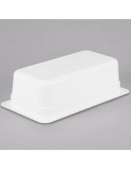 "Cambro 34CW148 Camwear 1/3 Size White Food Pan - 4"" Deep"