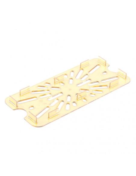 Cambro 30HPD 1/3 Size Amber High Heat Drain Tray