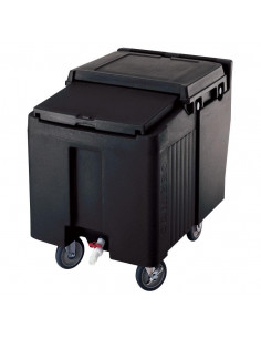 Cambro Black Sliding Lid Portable Ice Bin ICS125