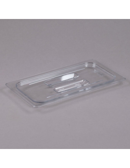 Cambro 30CWCH135 Camwear 1/3 Size Clear Polycarbonate Handled Lid