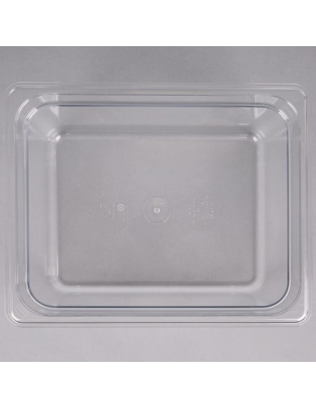 "Cambro 26CW135 Camwear 1/2 Size Clear Food Pan - 6"" Deep"