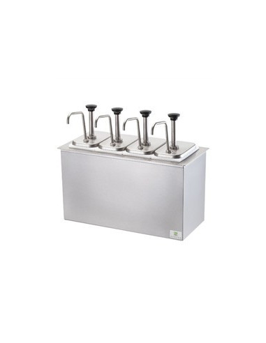 Server SB-4-83700 Station Combo with 4 Jars and Stainless Steel Pumps