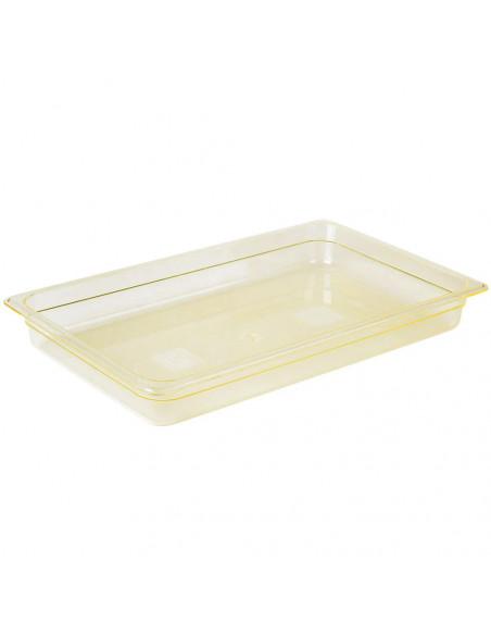 """Cambro 12HP150 H-Pan Full Size Amber High Heat Food Pan - 2 1/2"""" Deep"""