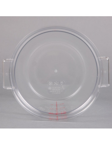 Cambro RFSCW4135 Camwear 4 Qt. Clear Round Food Storage Container