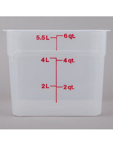 Cambro 6SFSPP190 6 Qt. Translucent Square Food Storage Container