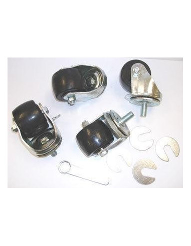 True 830280 CASTOR  SET-4  2-1-2 1-2 STEM  SILVER HOUSING