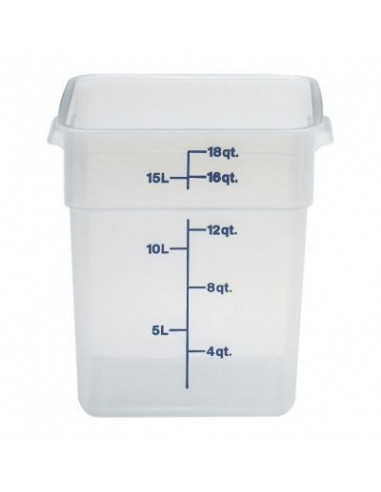 Cambro 18SFSPP190 CamSquare 18 Qt. Translucent Food Storage Container