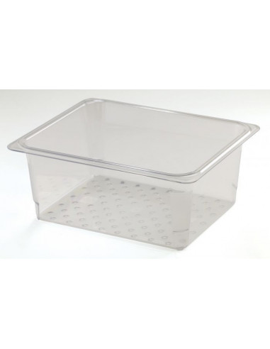 Cambro 25CLRCW135 1/2 Size Clear Colander Pan