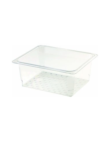 Cambro 23CLRCW135 Camwear 1/2 Size Clear Polycarbonate Colander Pan