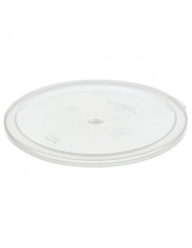 Cambro RFSCWC6135 6, 8 Qt. Clear Round Lid for Clear Camwear Containers