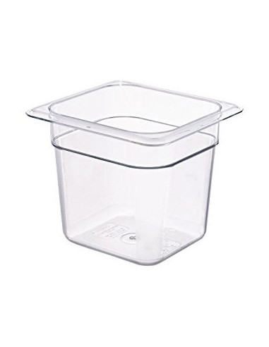"Cambro 66CW135 Camwear 1/6 Size Clear Food Pan - 6"" Deep"