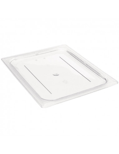 Cambro 20CWC135 Camwear 1/2 Size Clear Polycarbonate Flat Lid