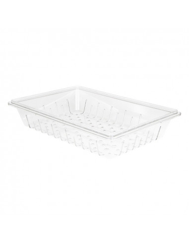 Cambro 1826CLRCW135 Camwear Clear Food Box Colander