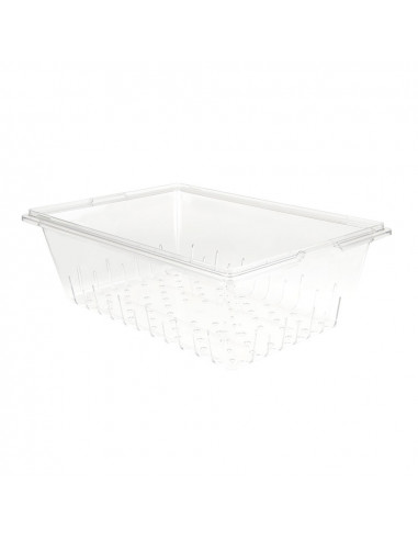 Cambro 18268CLRCW135 Camwear Clear Food Box Colander