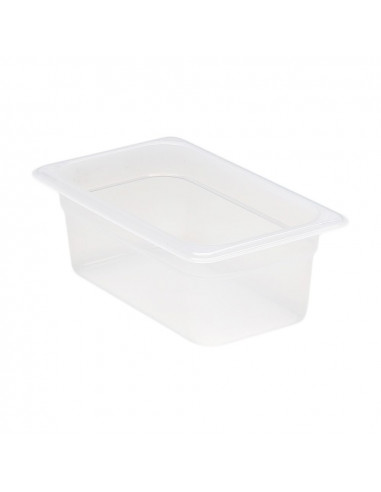 "Cambro 44PP190 1/4 Size Translucent Food Pan - 4"" Deep"
