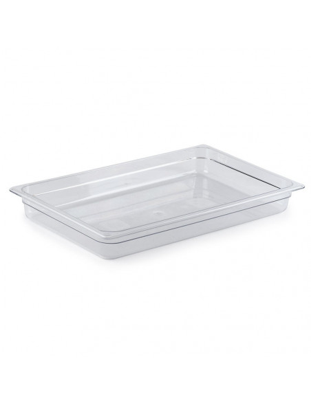 "Cambro 12CW135 Camwear Full Size Clear Food Pan - 2 1/2"" Deep"