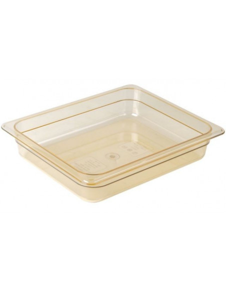 Cambro 22HP150 H-Pan 1/2 Size Amber High Heat Food Pan