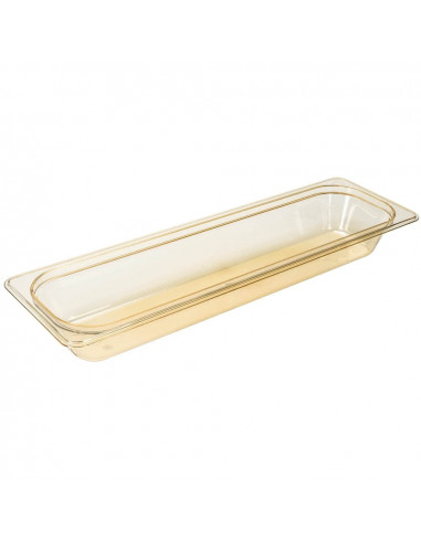 Cambro 22LPHP150 H-Pan 1/2 Size Long Amber High Heat Food Pan