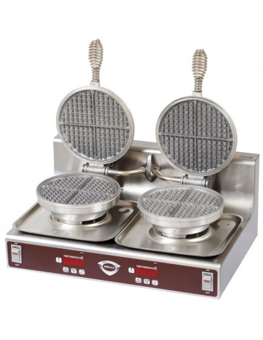 Wells WB-2 Counter Top 2 Pans Waffle Maker