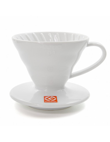 Hario V60 02 Ceramic Coffee Dripper White