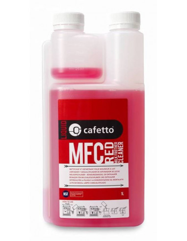 Cafetto 14220 Daily Milk Frother Cleaner Red (1L x 6 Bottles)