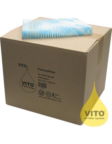 (PE100 V50/V80) أوراق السليلوز للترشيح من فيتو - ١٠٠ ورقة في الكرتون