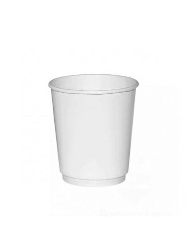 HUHTAMAKI 9OZ WHITE Double Wall CUPS