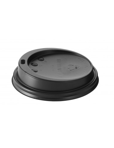 HUHTAMAKI Black LID FOR 12&16 OZ CUPS