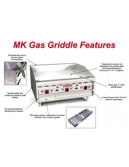 "MAGIKITCH'N MKG-48-ST GAS GRIDDLE 48"""
