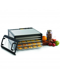 Excalibur D502CDSHD Stainless Steel 5 Tray Food Dehydrator
