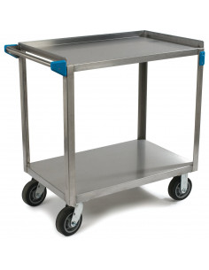 Carlisle UC7022133 2-Level Stainless Utility Cart
