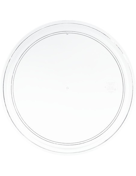 Carlisle 300407 Clear Round Display Tray