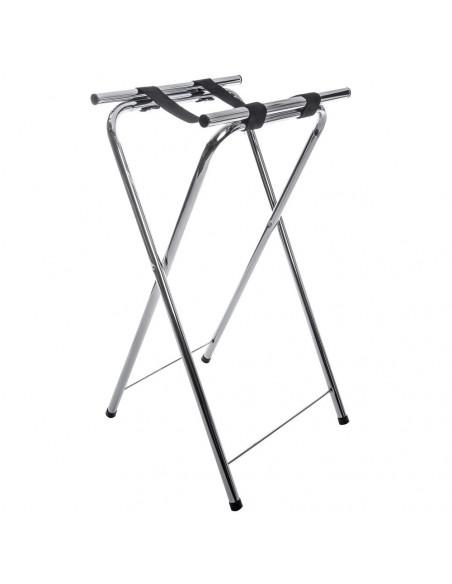 Carlisle C3625T38  Folding Chrome Tall Tray Stand