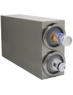 Carlisle 38882G  2 Tubes Countertop Vertical Cabinet Cup Dispenser