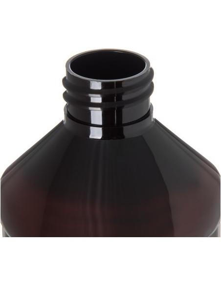 Carlisle 381613 Amber Bottle with Label 16 oz