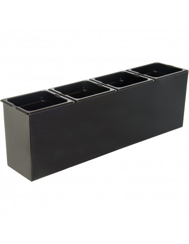 Carlisle 1080603 Black Tall Condiment Holder