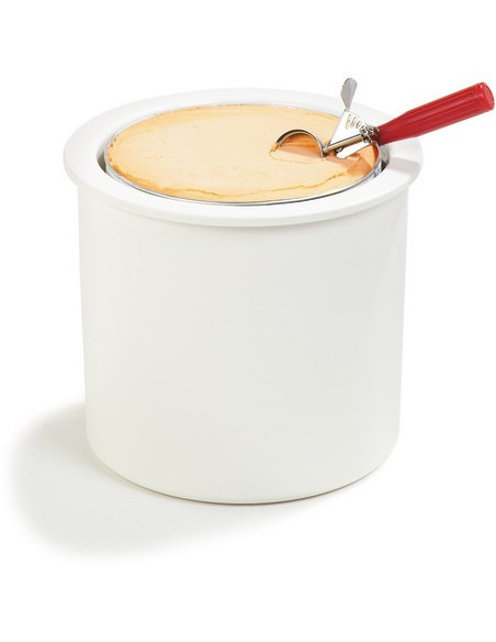 Carlisle CM101202 Clear/White Ice Cream Server