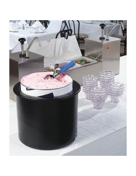 Carlisle CM101203 Black 3 Gallon Coldmaster Ice Cream Cold Crock with Lid