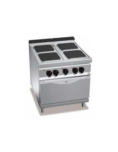 Berto's E9PQ4+FE Electric 4 Square Hot Plate With Oven