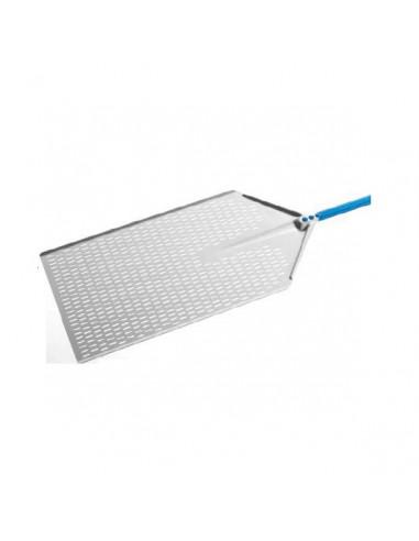 "Gi-Metal AM-3060F Aluminum perforated ""Metro"" pizza peel 30x60cm"
