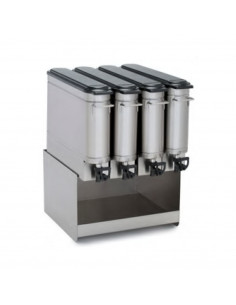 Grindmaster Tea dispenser stand side by side, 4 wide.