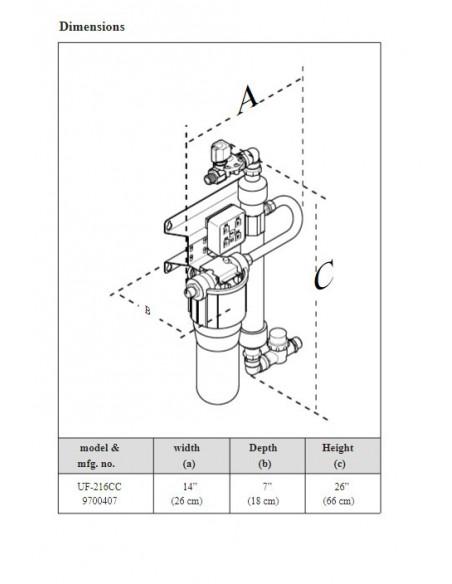 AJ. Antunes UF-216 Water Filter