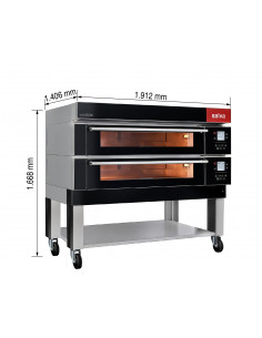 Salva EMD20 Double Deck Bake Oven with Steam Generator