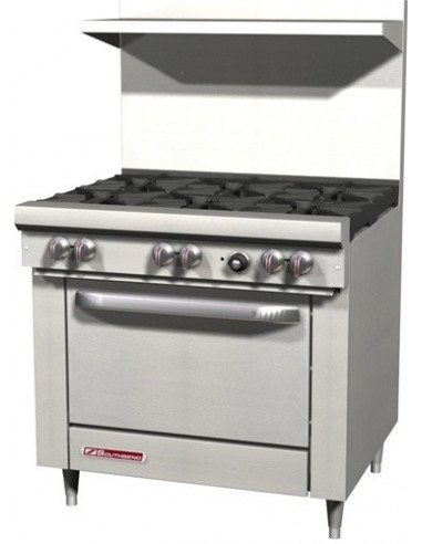 Southbend S-Series S36D Gas Range 6-Burners & Standard Oven