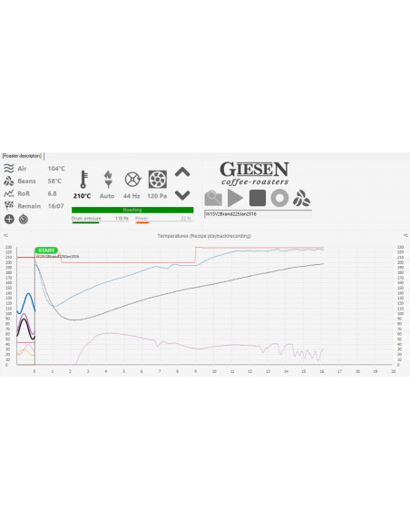 Giesen W6 Roast Profile System Touch