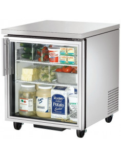 True TUC-27G One Glass Door Undercounter Refrigerator